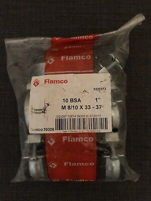 "1 Bag Of 10 Flamco Rubber Lined BSA Clips 1"" 33 - 37 M8/10"