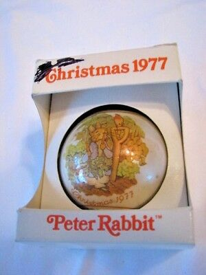 Schmid Peter Rabbit 1977 Christmas Ornament First in Limited Edition