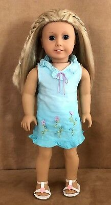 Kailey American Girl doll Meet dress of the year 2003 Pleasant Company blonde