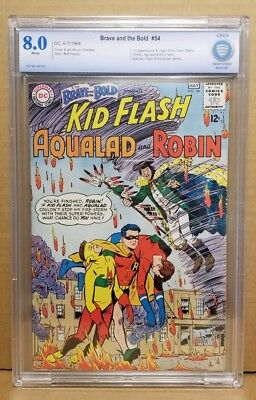 Brave And The Bold #54 Cbcs 8.0 (Vf) Origin & 1St Teen Titans 1964 White Pages