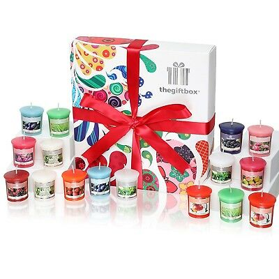 Sweetbeam Luxury Candle Christmas Gift Set with 16 Scented Wax Candles