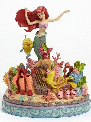 Disney Traditions The Little Mermaid Musical Under the Sea Statue New