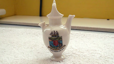 Vintage Model Of Liquid Holding Jug  Crested Southend-On-Sea   By Gemma China