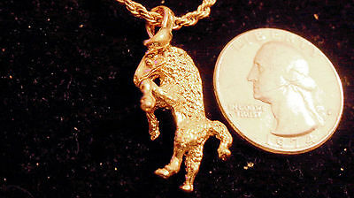 bling gold plated Capricorn ram ZODIAC PENDANT charm hip hop necklace JEWELRY GP