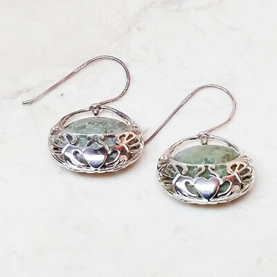 1b26b8f52 CONNEMARA MARBLE STERLING Silver Basket Earrings QVC Sold Out ...