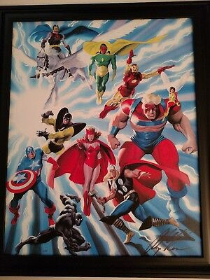 Marvelmania Alex Ross Marvel Avengers John Buscema Canvas Giclee #1 of only 40!
