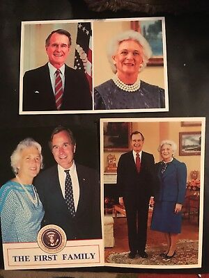 Postcard - Set of 3 Postcards of President George and First Lady Barbara Bush