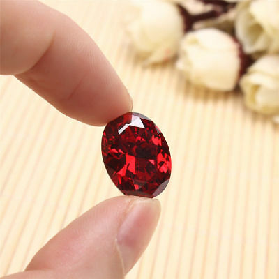 12*16mm Beautiful Oval Shape Cut Red Ruby Mozambique Loose Gemstone Stone POP