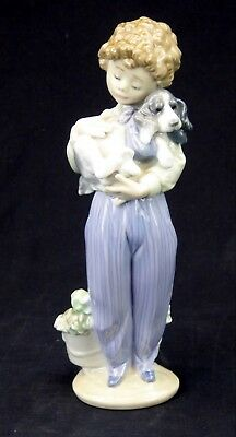 Lladro Porcelain Figurine My Buddy 7609 Boy Dog Retired 1989 Collectors Society