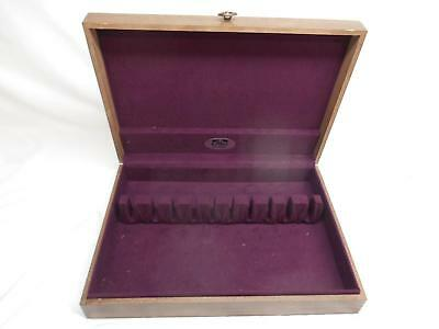 Old Vtg FASHION MANOR FM WOOD FLATWARE STORAGE CHEST Tarnish Proof Box