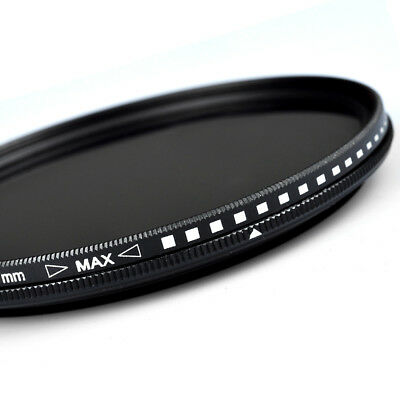 ZOMEI 52/55/58/62/67/72/77/82mm Adjust Neutral Density Fader filter ND2-ND400