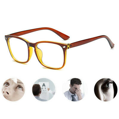 Blue Light Filter Block Anti-UV Glasses Eyewear Large Frame Plain Eye Glasses