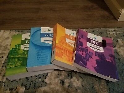 Roger CPA Review BEC FAR REG AUD Textbooks, Study set (2017 edition)