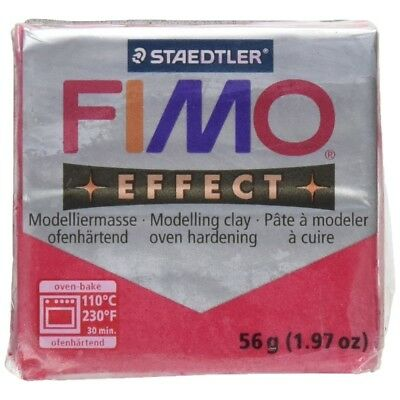 Fimo Effect 57g Metallic Ruby Red - Clay Polymer Modelling Moulding Soft Blocks