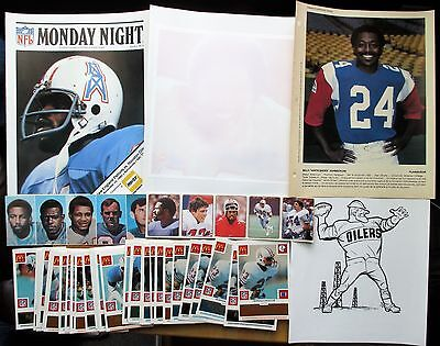Houston Oilers lot 285 1990 FACT Manny's Logos Popsicle stickers McD Laughlin**