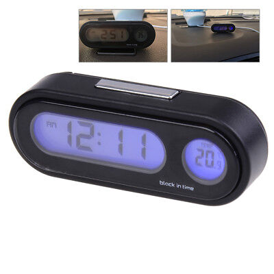 Useful car digital led electronic time clock thermometer with backlight HU