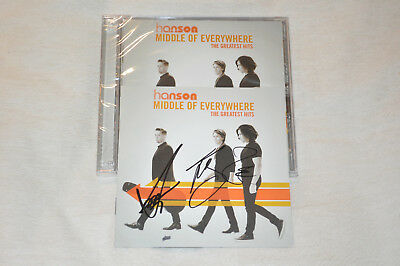 RARE Hanson Middle of Everywhere Autographed Signed CD Insert + SEALED CD!