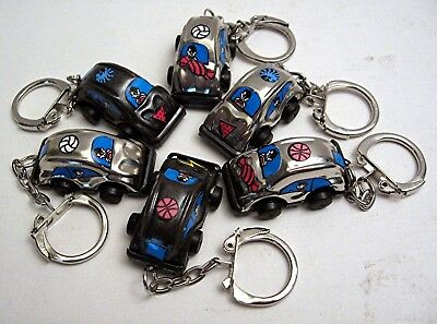 6 Volkswagen VW Beetle Metal Keychains Vending Machine Toy Prize Old Store Stock