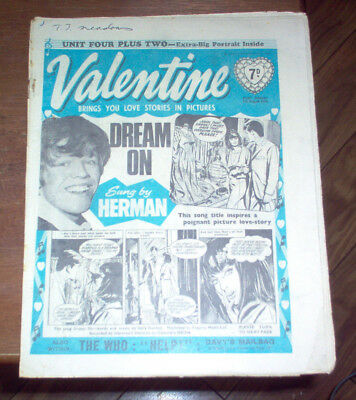 Valentine Magazine 1965 UK The Beatles The Who Rolling Stones Music Vintage Teen