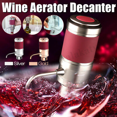 Portable Red Wine Aerator Bottle Topper Pourer Home Party Decanter Pour Filter