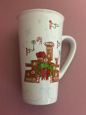 Disney Park Disneyland 2017 STARBUCKS Gingerbread Castle Holiday Mug Cup