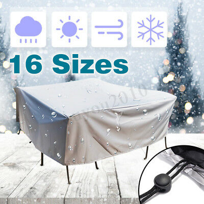 16 Size Waterproof Outdoor Furniture Cover Chair Bench Patio Cover UV Protector