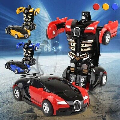 Robot Car Transformers Kids Toys Toddler Vehicle Cool Toy For Boys Xmas Gift US