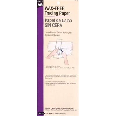 Dritz Wax Free Tracing Paper, Assorted - Singlefaced Wax Paper Colors Pkg Set