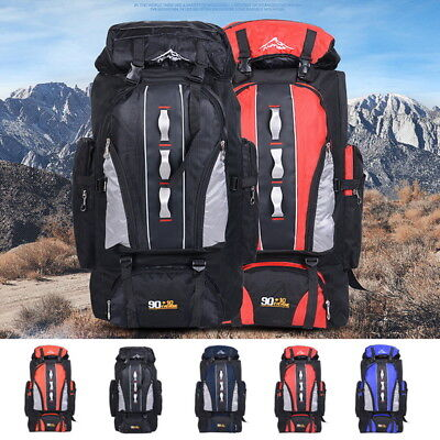 100L Waterproof Climbing Hiking Backpack Rain Cover Bag Mountaineer Backpack BD