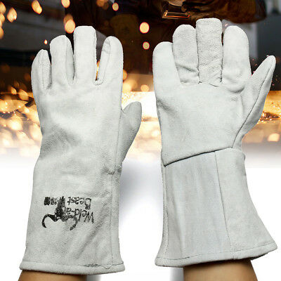 13''14'' Heat Resistant Melting Furnace Gloves Fire High Temperature Protection