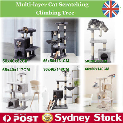 Luxury Cat Scratch Tree Pet Furniture Climbing Tower Condo House Scratching Post