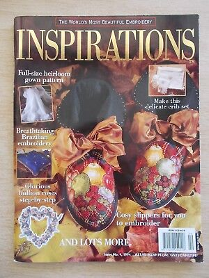 Inspirations #4~Embroidery Projects~Slippers~Baby~Brazilian~Bullion Roses~
