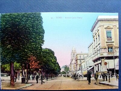 tunisie ,tunis ,l'avenue jules ferry en 1932
