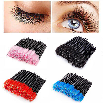 100Pcs Disposable Mascara Wands Makeup Brush Eyelash Brushes Spoolies Applicator