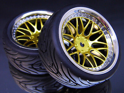 """RC TW 1:10 CLASSIC RÄDER """"CLASSIC BBCG"""" IN CHROM / GOLD 6MM OFFSET # kbbcg6"""