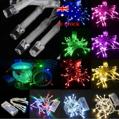 AU 1M LED Battery Powered Fairy Lights Christmas Tree Xmas Wedding Party Garden