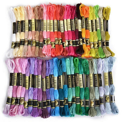 50pcs Cross Stitch Cotton Embroidery Thread Floss Sewing Skeins Craft Gift Set