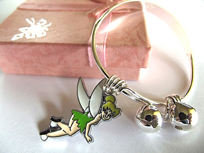 PRINCESS TINKERBELL CHARM BRACELET BANGLE GIFT BOX age 2 TO 4YEAR PARTY BIRTHDAY