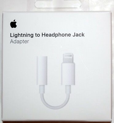 Genuine Apple Lightning to 3.5mm Headphone Jack Adapter for iPhone 7 8 Plus X XR