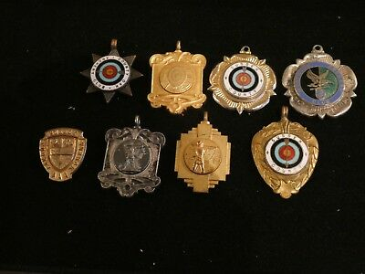 Small Group Of Archery Medals & Badge. Worthing , Sussex & Surrey.