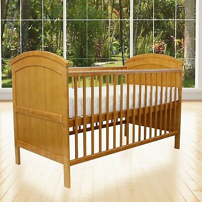 Baby Cot CotBed Toddler Junior Bed Liam Antique Natural Pine
