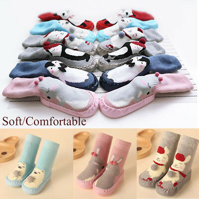 Care Cotton Baby Shoes Toddler Indoor Sock Flats Soft Slippers Kids Booties