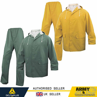 DELTA PLUS Panoply Rainsuit PVC Coated Waterproof Trouser and Jacket