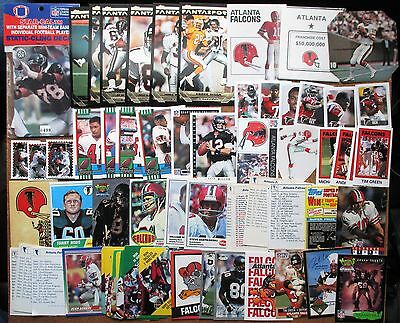 Atlanta Falcons lot 380+ Coke Kellogg's Chiquita Fleer Monty MacGregor CME 7-11*