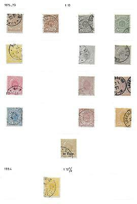 Luxembourg stamps 1875 Collection of 15 CLASSIC stamps CAT VALUE $1000