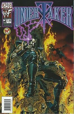 Undertaker Wwf/wwe Wrestling Licensed Chaos Comic Book #3 June 1999 New