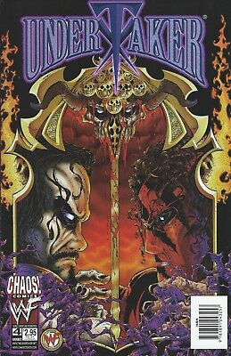 Undertaker Wwf/wwe Wrestling Licensed Chaos Comic Book #4 July 1999 New
