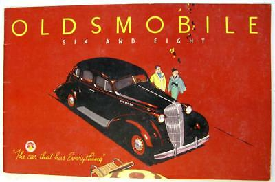 OLDSMOBILE Six and Eight for 1936 Original Car Sales Brochure