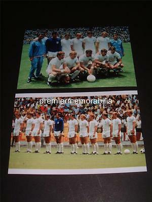 England 1970 World Cup Finals Gordon Banks Bobby Moore Bobby Charlton Alan Ball