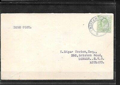 TRISTAN DA CUNHA KEVII ½d USED FINE ON WESTON COVER TO UK CAT £300